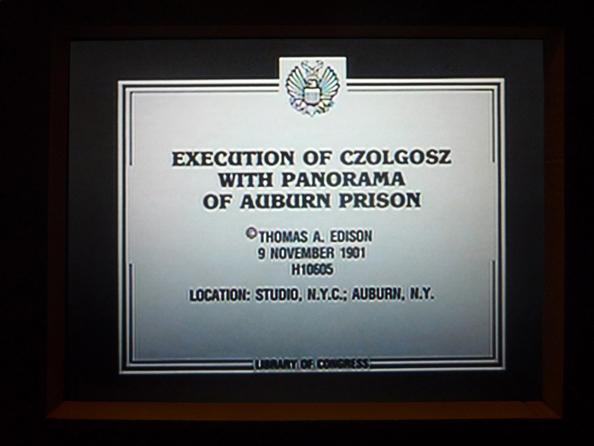 Execution of Czolgosz with panorama of Auburn Prison by Thomas A. Edison.