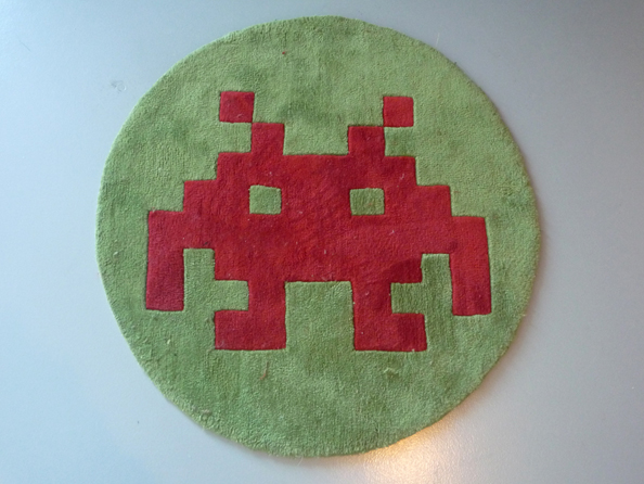 Space Invaders mat.