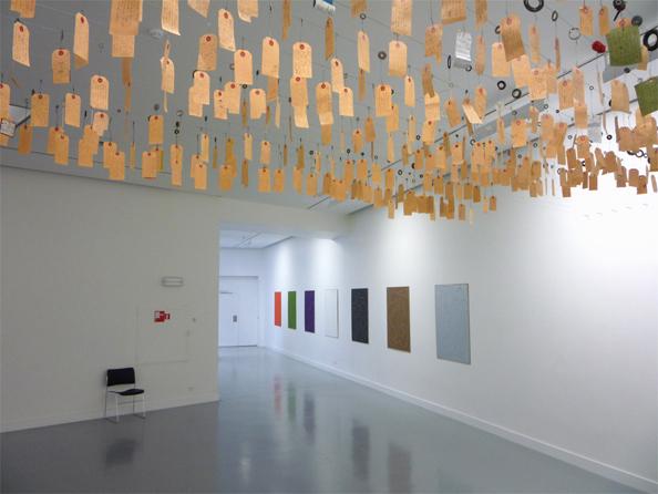 Benjamin Verdonck's Kalender exhibition at MuHKA.