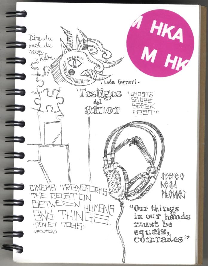 Sketches I made at the MuHKA.