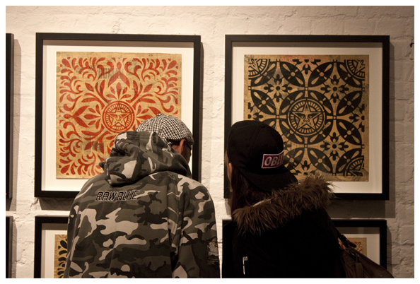 Shepard Fairey's Sound & Vision exhibition and party in Shoreditch