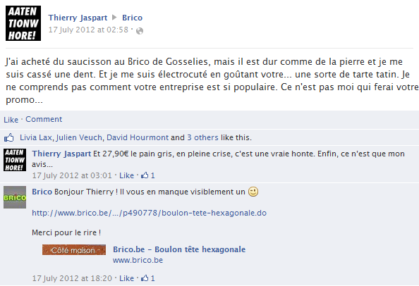 thierry-jaspart-facebook-status-screenshot-brico-gosselies-saucisson-pain-gris