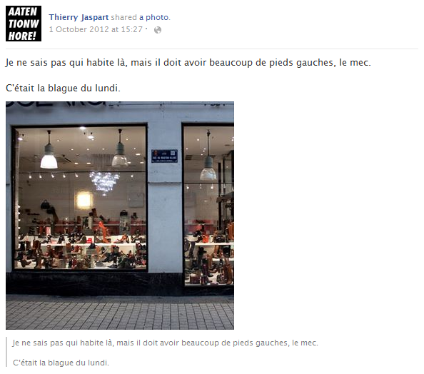 thierry-jaspart-facebook-status-screenshot-chaussures-germaine-collard-vitrine-blague