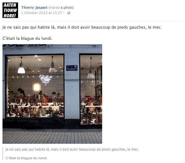 thierry-jaspart-facebook-status-screenshot-chaussures-germaine-collard-vitrine-blague