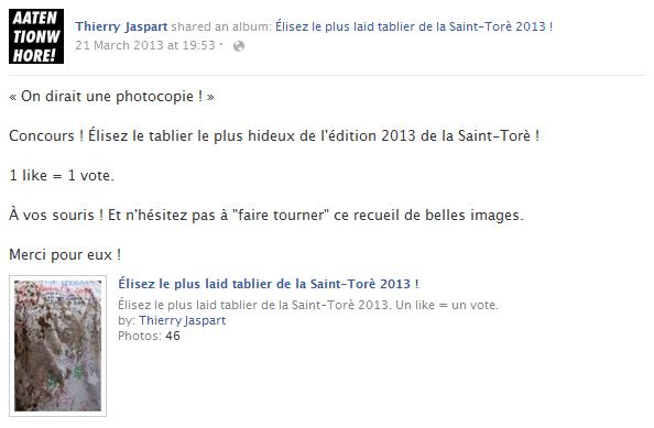 thierry-jaspart-facebook-status-screenshot-concours-tabliers-saint-tore-liege-belgique