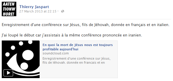 thierry-jaspart-facebook-status-screenshot-conference-jesus-jehovah