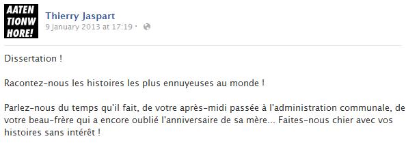 thierry-jaspart-facebook-status-screenshot-dissertation-histoires-ennuyeuses