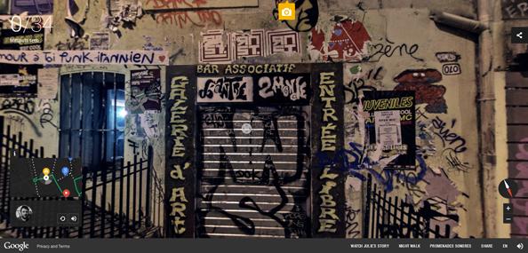 Google Night Walk screenshot
