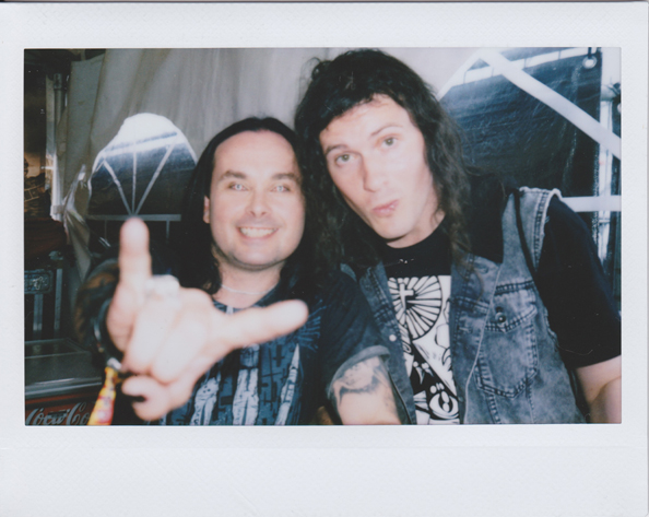 Dani Filth and I in Courtrai, Belgium