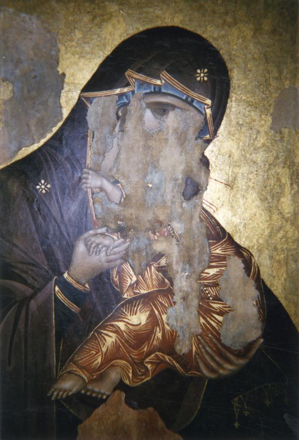 Mary vomiting on Jesus in Sofia, Bulgaria
