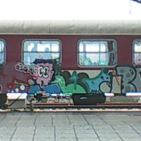 Train graffiti in Varna, Bulgaria