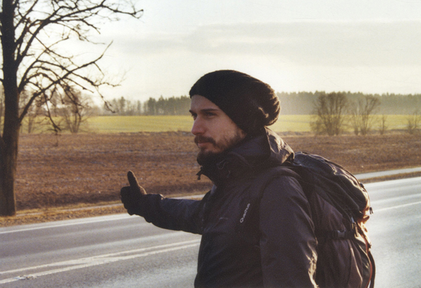 Hitchhiking in Šiauliai, Lithuania