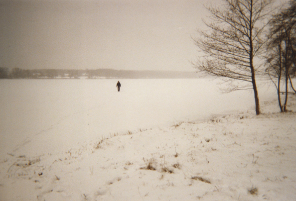 Myself walking on a frozen lake in Trakai, Lithuania